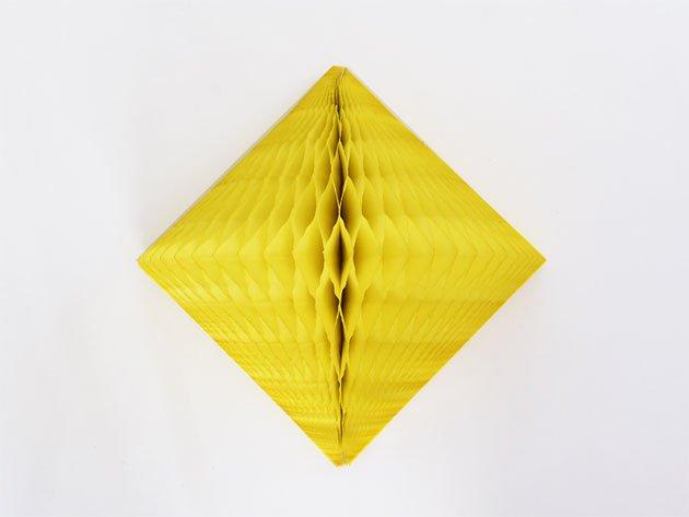 ダイヤモンド型ハニカムデコレーション 30cm  イエロー