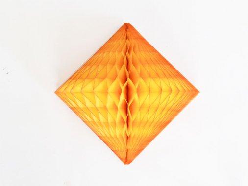 ダイヤモンド型ハニカムデコレーション 30cm  マリーゴールド