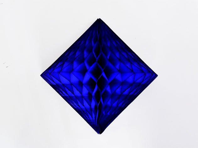 ダイヤモンド型ハニカムデコレーション 30cm  ダークブルー