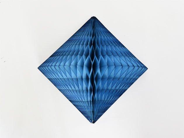 ダイヤモンド型ハニカムデコレーション 30cm  ターコイズ
