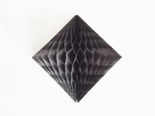 ダイヤモンド型ハニカムデコレーション 30cm  ブラック