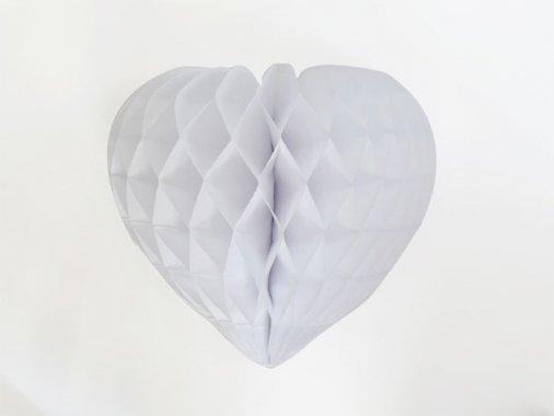 ハート型ハニカムデコレーション 30cm  ホワイト