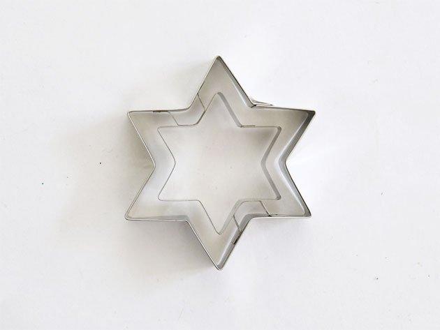 【完売】クッキー型 ヘキサグラム(六角星) - Stadter(ステンレス)