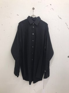 MULTI STYLING OVERSIZED SHIRT(BLACK)
