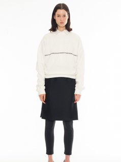 FRESH WORLD EMBROIDERY CREW NECK SWEATER(WHITE)