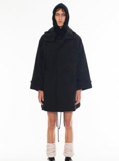DRESSEDUNDRESSED EMBROIDERY OVERSIZED PARKA(BLACK)