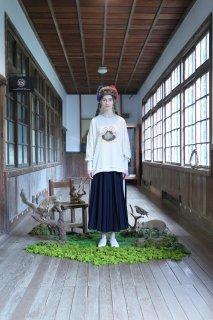 Line Pleats skirt (NAVY)