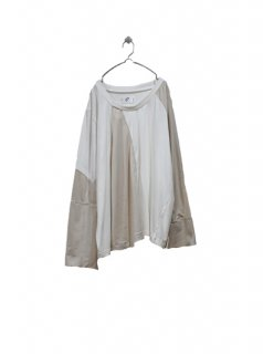 3textile over L/S Teee (WHITE&BEIGE)