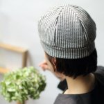 on apartments. original お帽子  houndstooth check(white)
