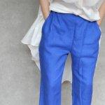 MAVUNO DALYリネンパンツ【blue】