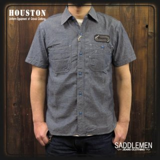 HOUSTON「CHAMBRAY WAPPEN」ワークシャツ