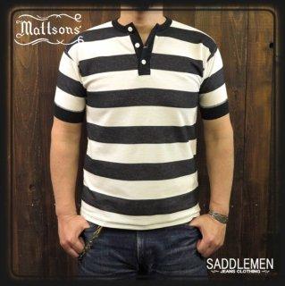 MATTSON'S「BORDER KANOKO」ヘンリーネックTシャツ