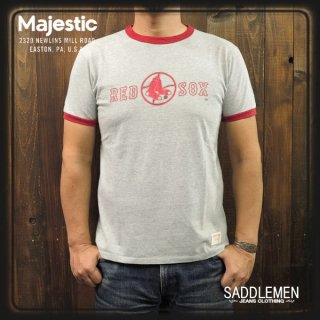 SALE!! Majestic「RED SOX」リンガーTシャツ