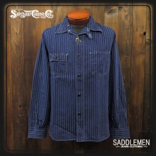 SUGAR CANE「8.5oz WABASH STRIPE」ワークシャツ