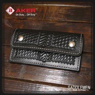 AKER(エイカー)「BASKET WEEVE  HALF FLAP」トラッカーウォレット