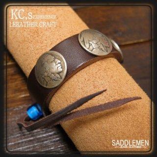 KC's 5¢コンチョ・レザーブレスレット