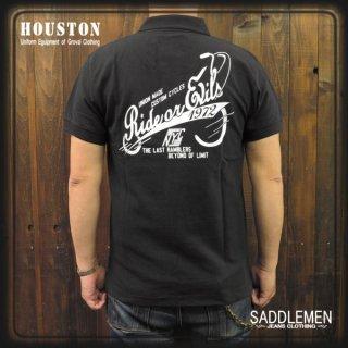 ヒューストン「RIDE ON EVILS」ヘビーポロシャツ
