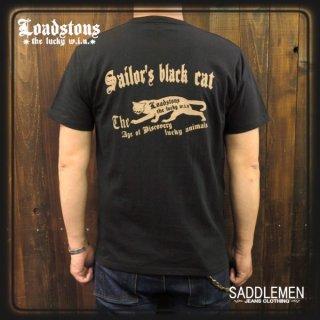 LOADSTONS 「SAILOR'S BLACK CAT」Tシャツ