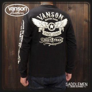 VANSON(バンソン) 「FLYING STAR」ロングTシャツ