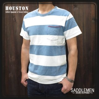 ヒューストン「INDIGO」ボーダーTシャツ