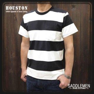 ヒューストン「WIDE BORDER」ポケットTシャツ
