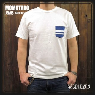 桃太郎ジーンズ 「GTB DENIM POCKET」Tシャツ
