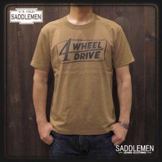 サドルメン「4 WHEEL DRIVE」Tシャツ