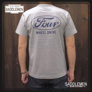 サドルメン「FOUR WHEEL DRIVE」ポケットTシャツ
