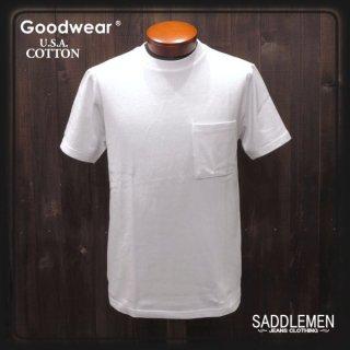 グッドウエア「USA COTTON」無地ポケットTシャツ