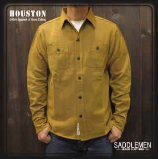 ヒューストン「SOLID VIYELLA」ワークシャツ