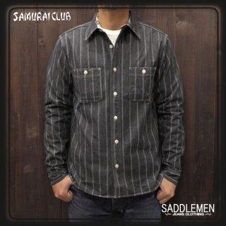 サムライ倶楽部「JACQARD STRIPE」ワークシャツ