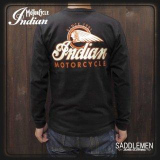 インディアンモーターサイクル「INDIAN LOGO」ロングTシャツ