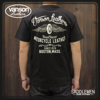 VANSON(バンソン) 「MOTORCYCLE LEATHERS」Tシャツ