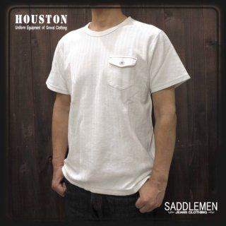 ヒューストン「HERRINGBONE JQ」ポケットTシャツ