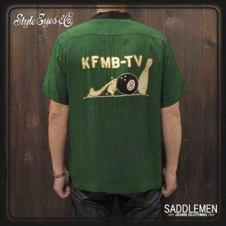 スタイルアイズ「KFMB-TV」ボーリングシャツ
