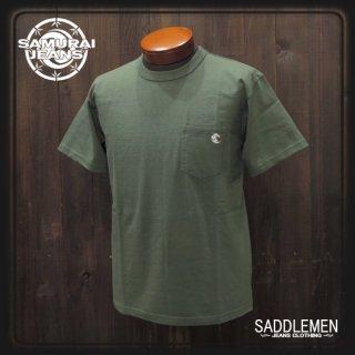 サムライジーンズ ポケット刺繍Tシャツ