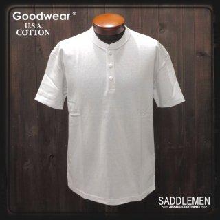 グッドウエア「USA COTTON」ヘンリーネックTシャツ