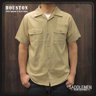 ヒューストン「POPLIN」MILITARYオープンシャツ