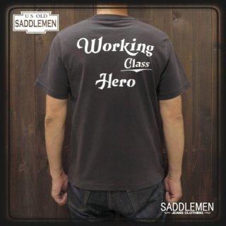 サドルメン「WORKING CLASS HERO」ポケットTシャツ