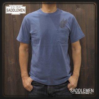 サドルメン「WINGED WHEEL」ポケットTシャツ