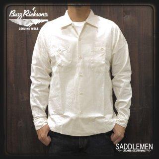 バズリクソンズ「WHITE CAMBRAY」オープンシャツ