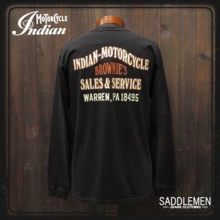 インディアンモーターサイクル「BROWNIE'S INDIAN SALES」ロングTシャツ