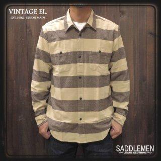 VINTAGE EL.「PRISON BORDER」ワークシャツ