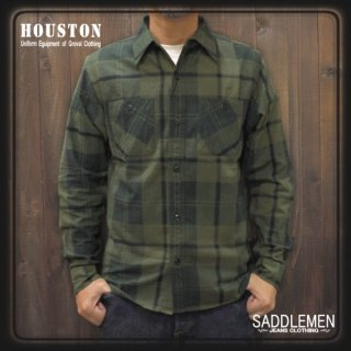 ヒューストン「PRINT CHECK」ネルシャツ