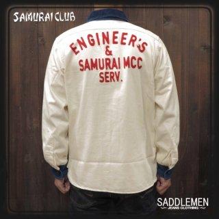 サムライ倶楽部「Denim×Corduroy」ワークシャツ