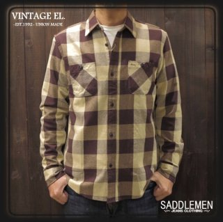 VINTAGE EL.「BUFFALO CHECK」ネルシャツ