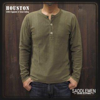 ヒューストン「HERRINGBONE JQ」ロングTシャツ
