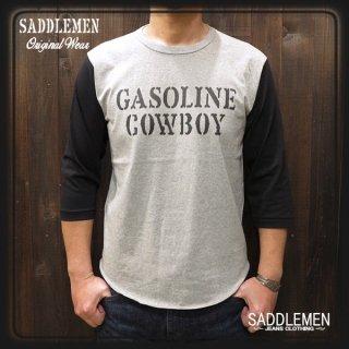 サドルメン「GASOLINE COWBOY」七部袖Tシャツ