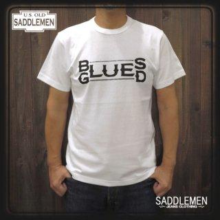 サドルメン「BLUES LOGO」Tシャツ