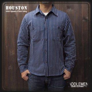 ヒューストン「STRIPE VIYELLA」ワークシャツ
